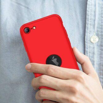 iPhone SE 2 360 kaaned plastikust punane 8
