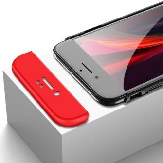 iPhone SE 2 360 kaaned plastikust punane must 11