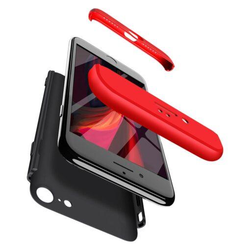 iPhone SE 2 360 kaaned plastikust punane must 3