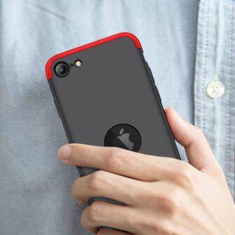 iPhone SE 2 360 kaaned plastikust punane must 7