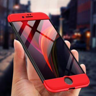 iPhone SE 2 360 kaaned plastikust punane must 9
