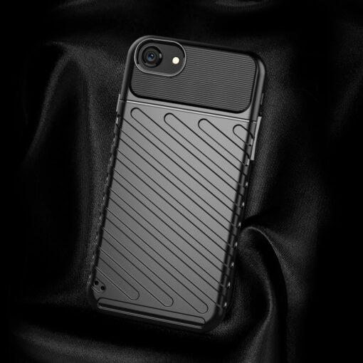 iPhone SE 2020 iPhone 8 ja iPhone 7 tugev silikoonist ümbris must 2