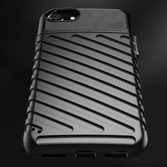 iPhone SE 2020 iPhone 8 ja iPhone 7 tugev silikoonist ümbris must 5
