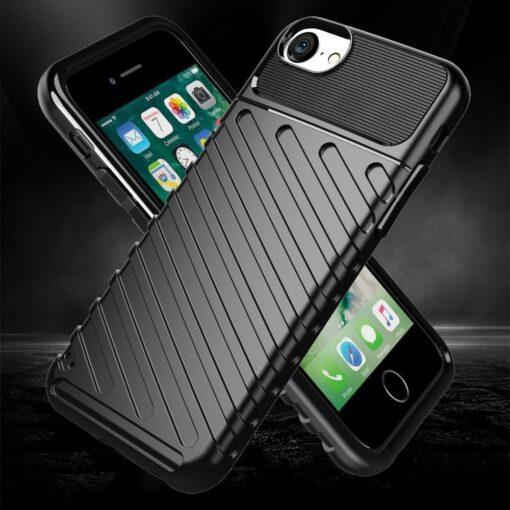 iPhone SE 2020 iPhone 8 ja iPhone 7 tugev silikoonist ümbris must