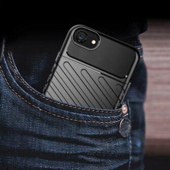 iPhone SE 2020 iPhone 8 ja iPhone 7 tugev silikoonist ümbris must 7