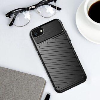 iPhone SE 2020 iPhone 8 ja iPhone 7 tugev silikoonist ümbris must 8