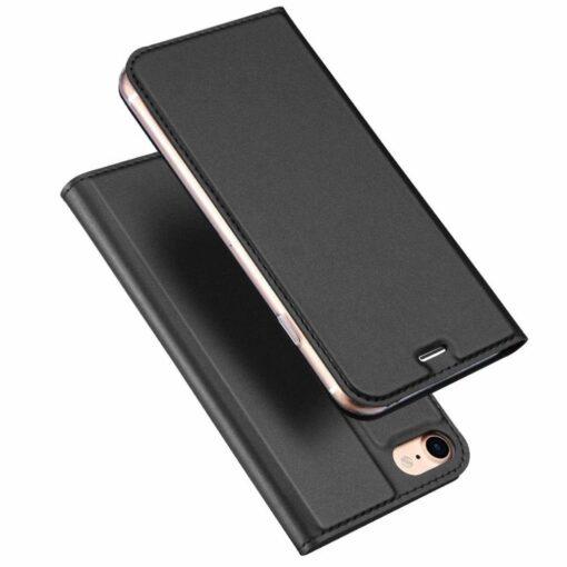 iPhone SE 2020 7 ja 8 kaaned nahast musta värvi