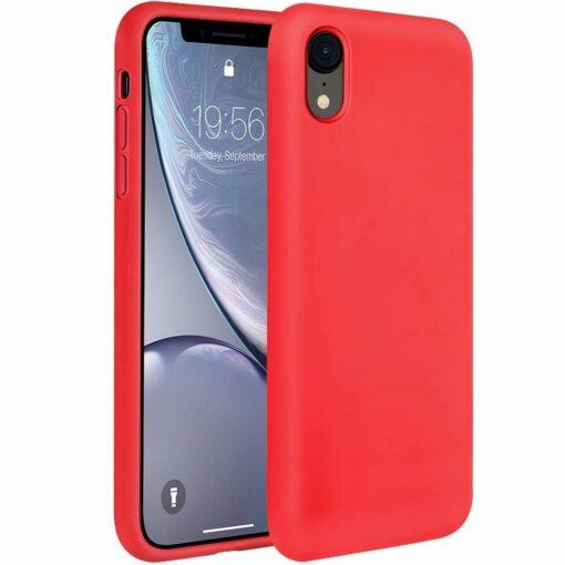 iPhone XR ümbris silikoonist punane 1