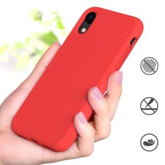 iPhone XR ümbris silikoonist punane 4