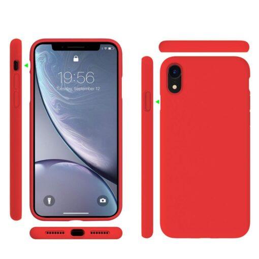 iPhone XR ümbris silikoonist punane 5