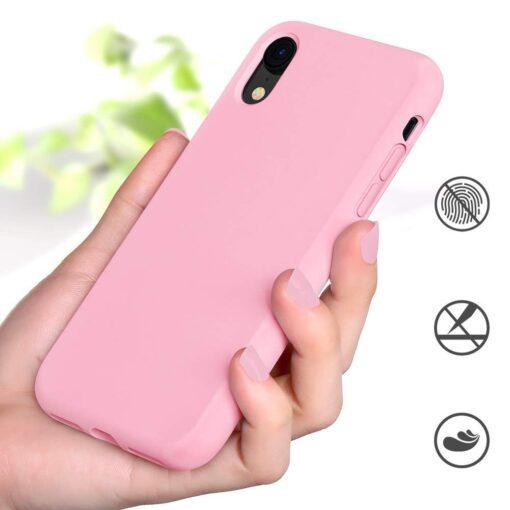 iPhone XR ümbris silikoonist roosa 2