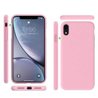 iPhone XR ümbris silikoonist roosa 4
