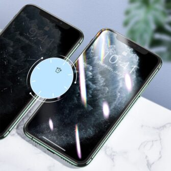 iPhone XR kaitseklaas 3D ekraanikaitse Baseus paigaldusraamiga 14