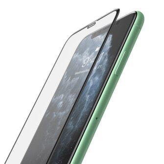 iPhone XR kaitseklaas 3D ekraanikaitse Baseus paigaldusraamiga 2