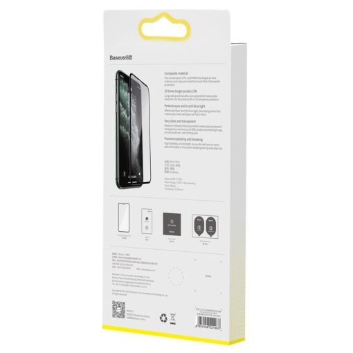 iPhone XR kaitseklaas 3D ekraanikaitse Baseus paigaldusraamiga 6