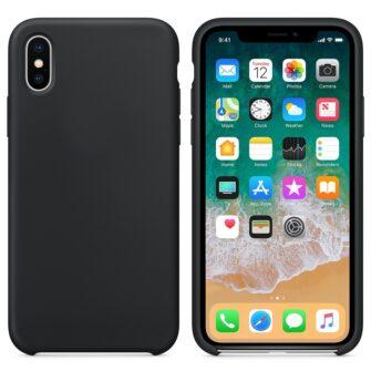 iPhone XS ümbris silikoonist must