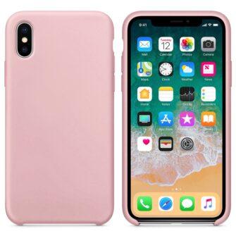 iPhone XS roosa silikoonümbris