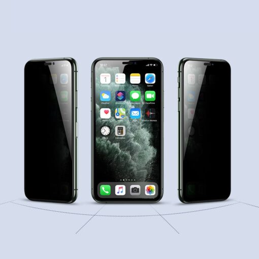 iPhone XS X kaitseklaas privaatsusfiltriga täisekraan 8