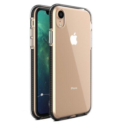 iPhone XR silikoonist ümbris musta raamiga