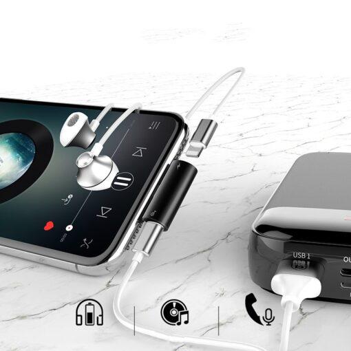iPhone kõrvaklappide adapter lightning to lightning 2x 11