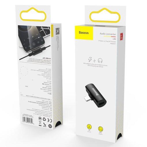 iPhone kõrvaklappide adapter lightning to lightning 2x 15