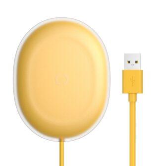 Baseus Jelly juhtmevaba qi laadija kollane 1