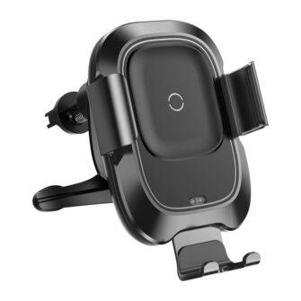 Baseus Nutikas autohoidik koos juhtmevaba Qi laadijaga ja infrapuna sensoriga must 1