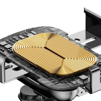 Baseus Nutikas autohoidik koos juhtmevaba Qi laadijaga ja infrapuna sensoriga must 2