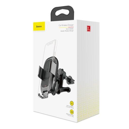 Baseus Nutikas autohoidik koos juhtmevaba Qi laadijaga ja infrapuna sensoriga must 6