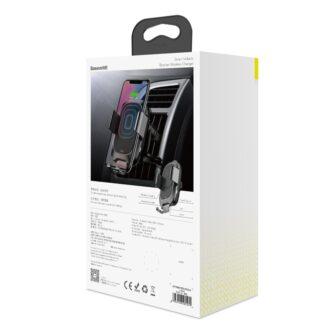 Baseus Nutikas autohoidik koos juhtmevaba Qi laadijaga ja infrapuna sensoriga must 7