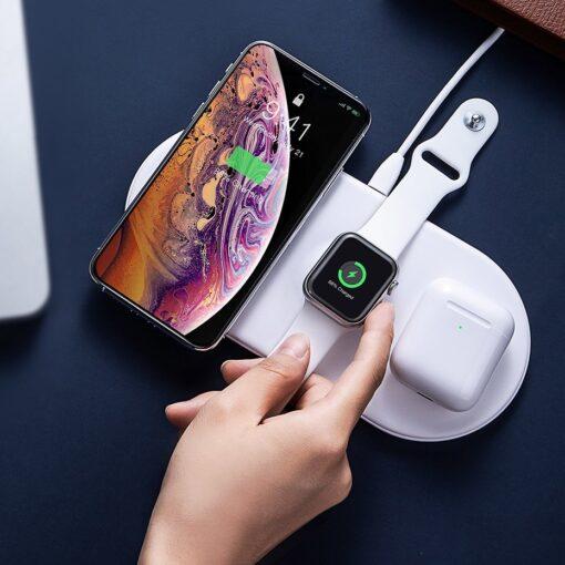 Baseus juhtmevaba laadija 3in1 Qi iphone apple watch ja airpodsidele 3