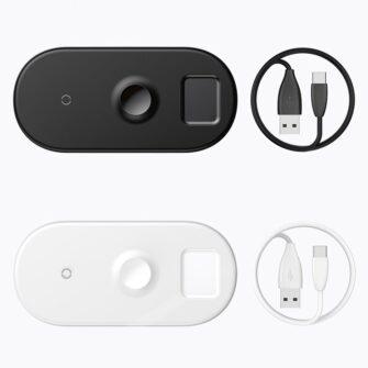 Baseus juhtmevaba laadija 3in1 Qi iphone apple watch ja airpodsidele 8