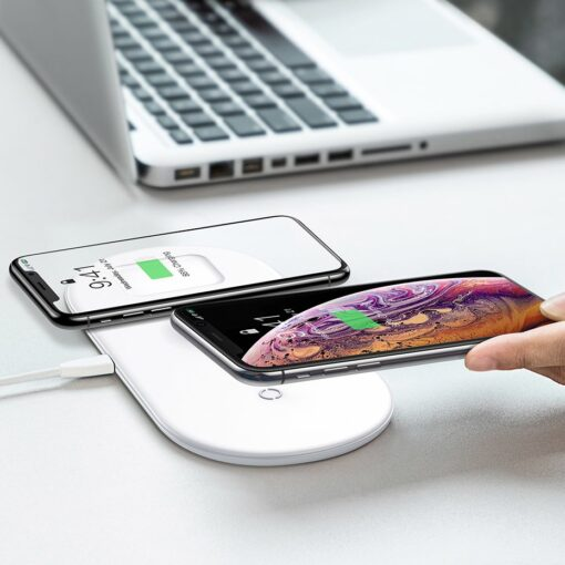 Baseus juhtmevaba laadija 3in1 Qi iphone apple watch ja airpodsidele valge 10