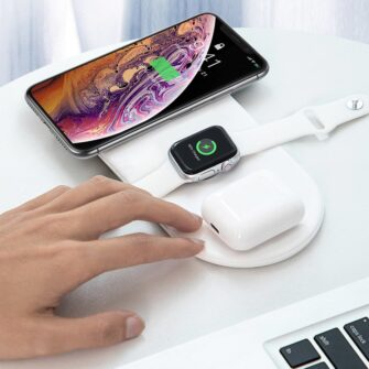 Baseus juhtmevaba laadija 3in1 Qi iphone apple watch ja airpodsidele valge 13