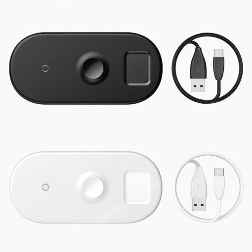 Baseus juhtmevaba laadija 3in1 Qi iphone apple watch ja airpodsidele valge 16