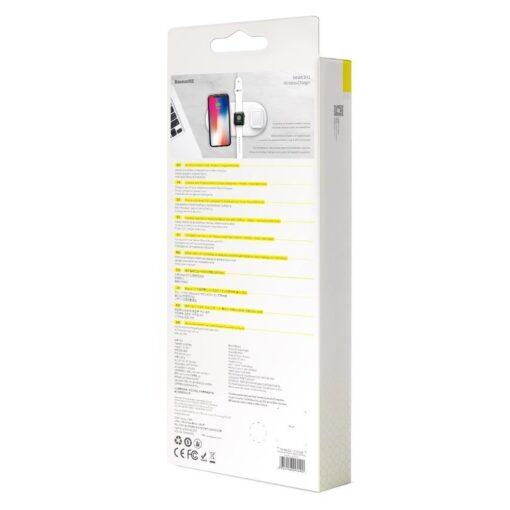 Baseus juhtmevaba laadija 3in1 Qi iphone apple watch ja airpodsidele valge 18