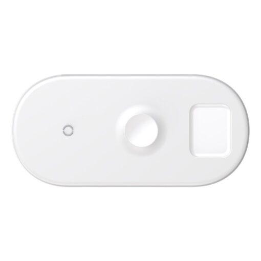 Baseus juhtmevaba laadija 3in1 Qi iphone apple watch ja airpodsidele valge 3