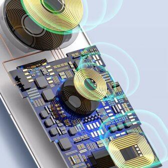 Baseus juhtmevaba laadija 3in1 Qi iphone apple watch ja airpodsidele valge 9