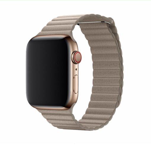 Devia Elegant Leather Apple Watchi 44mm 42mm kivi