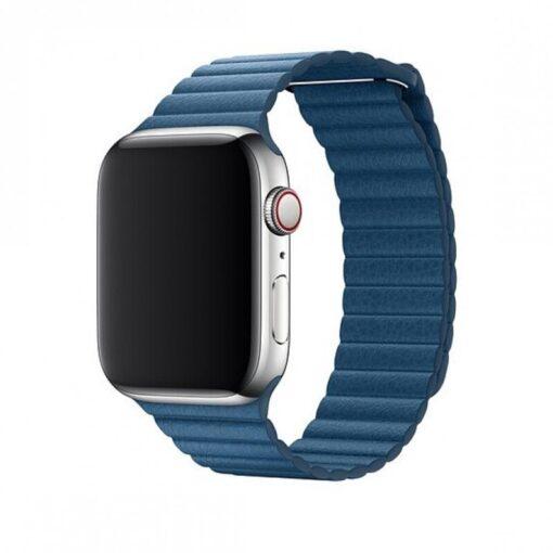 Devia Elegant Leather Apple Watchile 40mm 38mm sinine