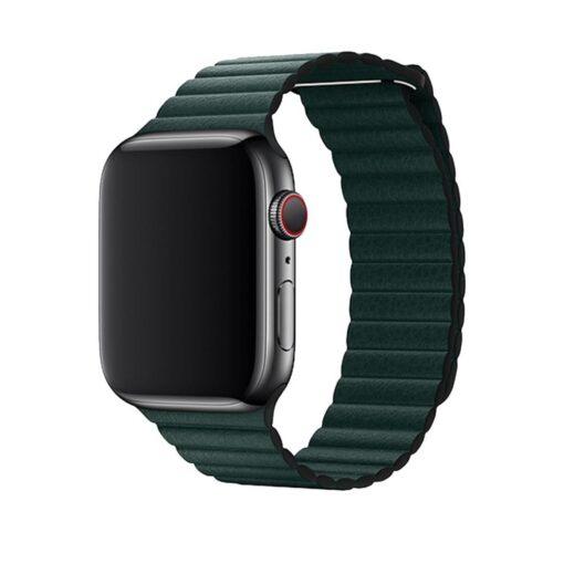 Devia Elegant Leather Apple Watchile 44mm 42mm metsaroheline