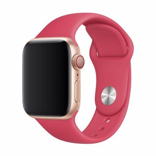Devia rihm Deluxe Sport Apple Watchile 44mm 42mm punane