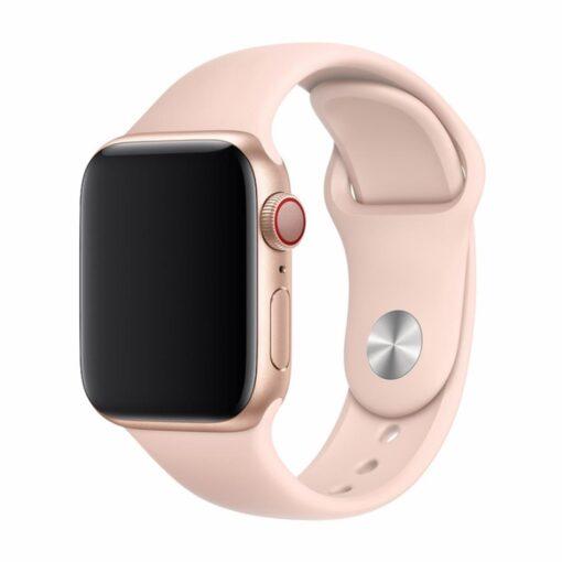 Devia rihm Deluxe Sport Apple Watchile 44mm 42mm roosa liiv