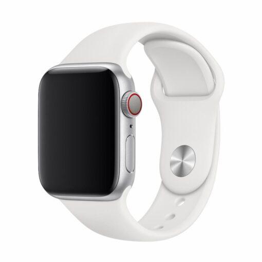 Devia rihm Deluxe Sport Apple Watchile 44mm 42mm valge