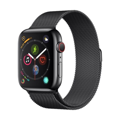 Devia rihm Elegant Milanese Apple Watchile 40mm 38mm space black