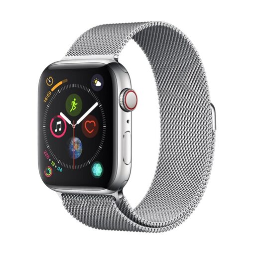 Devia rihm Elegant Milanese Apple Watchile 44mm 42mm hõbedane