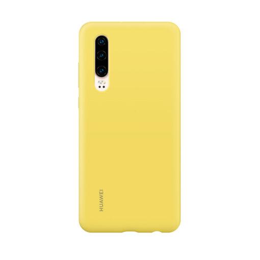 HUAWEI silikoonist ümbris mudelile P30 kollane originaal 1