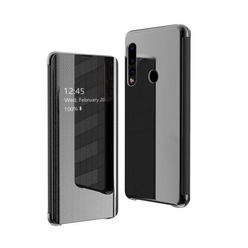 Huawei P30 Lite Flip View klapiga kaaned must