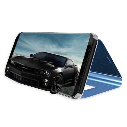 Huawei P30 Lite clearview kaaned plastikust ja musta värvi 4