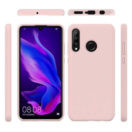 Huawei P30 Lite kaaned pehmest silikoonist roosa 1